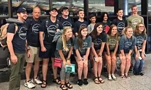 Youth Leaving on Mission Trip 2017