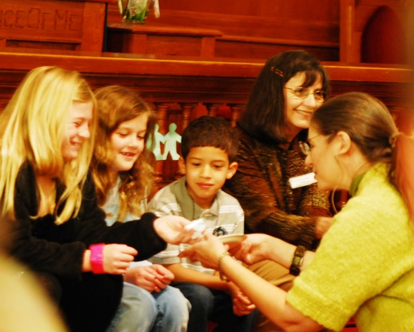 pastor cyndi with children