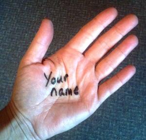 Pastor Cyndi's Hand